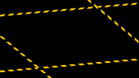 caution tape line on black background, tape yellow black stripe pattern, warning space with ribbon tape sign for comfort safety zone, safety banner for copy space, ribbon yellow black stripe