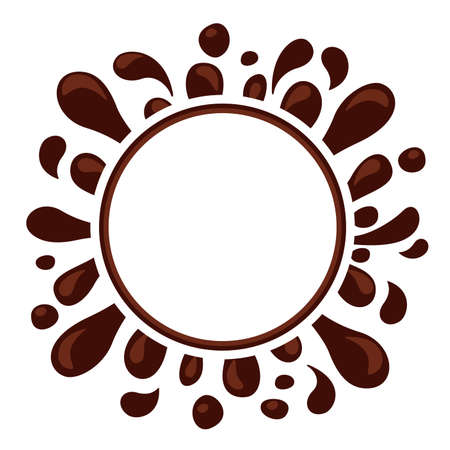 chocolate brown splash blob for banner background, drop brown liquid splash, icon splashing chocolate blob droplet, illustrations cocoa brown liquid splash shape, symbol chocolate drop splatter flow