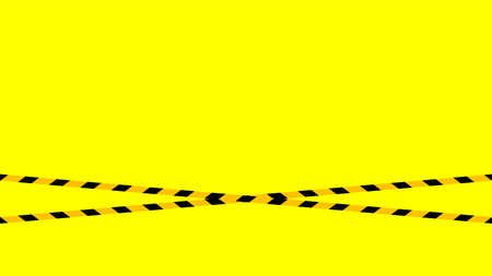 caution tape line, tape yellow black stripe pattern on yellow for background, warning space with ribbon tape sign for comfort safety zone, safety banner for copy space, ribbon yellow black stripe Ilustração