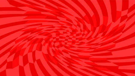 red twirl wave pattern abstract for background, optical wave twirl red color, hypnotic concept, dynamic motion curve of lines flowing, lines wave shaped array of blended points illusion Illustration