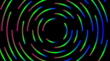 circle line colorful bright for modern background, light neon effect motion with line mixed color, glowing light circle graphic for wallpaper, art line swirl shine color for technology digital concept