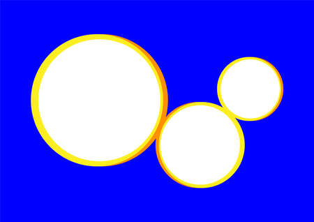 template banner rectangle a4 blue and circle blank for background, blue and circle frame empty for banner presentation, cover paper blue a four print for clip art, mock up a4 for ad copy space 矢量图像