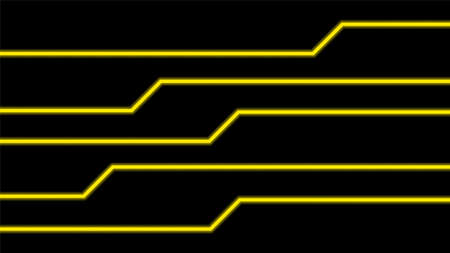 line glow yellow on black background, modern art line glowing yellow color for technology concept, neon effect shine with yellow glow line, light green bright shine in line shape, light beam glowing