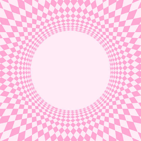 geometric art abstract pink for background, art line light pink spiral optical for hypnotic wallpaper, geometry polygonal pattern with connected graphic line, optical graphic distorted wavy Stock Illustratie