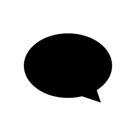 speech balloon ellipse isolated on white, speech bubble sign of communication symbol, black and white speech bubble for talk text,  balloon message icon, dialog chatting graphic for icon talk Stock Illustratie