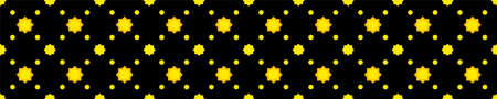 star seamless pattern cute on black long strip background