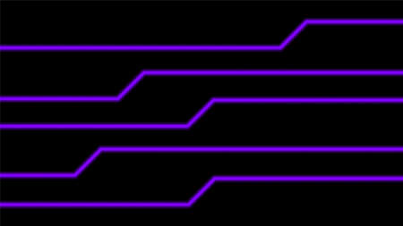 line glow purple on black for background, modern art line glowing purple for technology concept, neon effect shine with purple glow line, light purple bright shine in line shape, light beam glowing