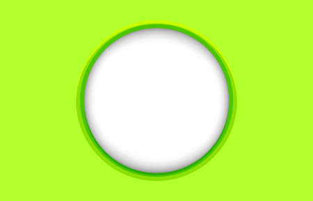 circle frame white on bright green for banner, banner frame ellipse shape for message, lemon green rectangle with circle frame for copy space text, oval modern green frame for background