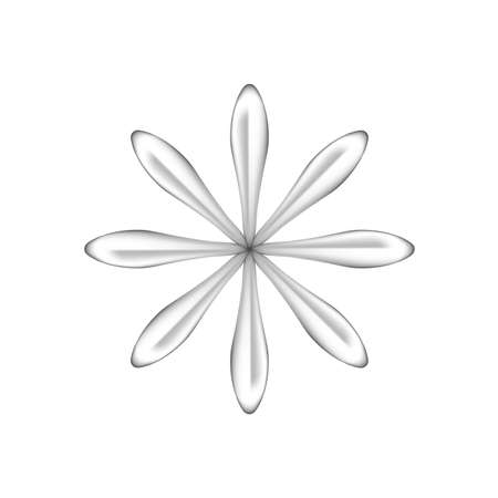 single flowers silver ornate isolated on white background, luxury flower petal silver simple, silver flowers object metal sculpture, illustration of deluxe silver flower, clip art flowers luxurious