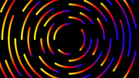 circle line colorful bright for modern background, light neon effect motion with line mixed color, glowing light circle graphic for wallpaper, art line swirl shine color for technology digital concept Stok Fotoğraf - 154722903