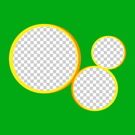 template banner square green and circle transparent for background, green and circle frame blank for banner presentation, cover paper green square for print, mock up square for ad copy space