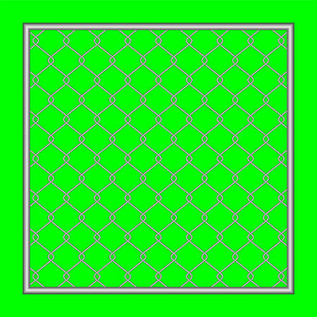 steel wire fence on green screen background, fence metal grid, wire iron fence isolated on green Stok Fotoğraf - 154726841