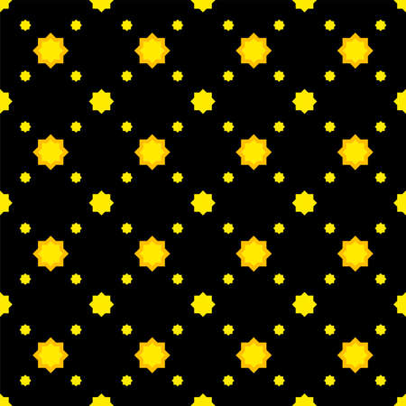 star seamless pattern cute on black background, star shape geometric and repeat pattern Stok Fotoğraf - 154726845