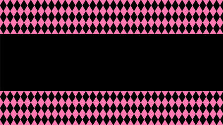 pink black rhombus pattern for background, cosmetics banner background, black pink in pattern diamond rhomb shape Stok Fotoğraf - 154726861
