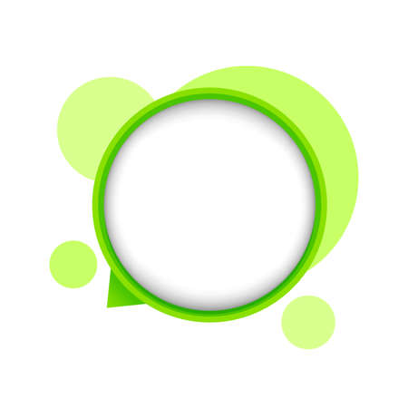 speech bubble green circle isolated on white, bubble chat sign for icon speak or talk, balloon speech for message copy space text, dialog box chat symbol, modern speech bubble for conversation concept Stok Fotoğraf - 154726984