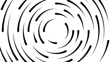 circle line black swirl burst on white background, swirl circle art line spiral shape, cycle spiral shape for technology concept, ripple lines graphic circle round, wave line twist and motion effect