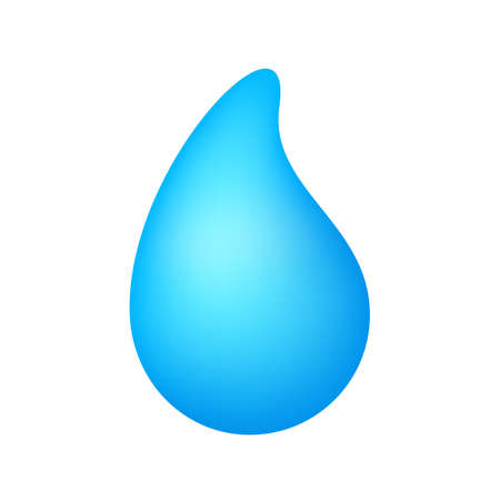 drop water blue, graphic droplet water shape, aqua icon, liquid shape droplet icon, water symbol isolated on white, raindrop symbol Çizim