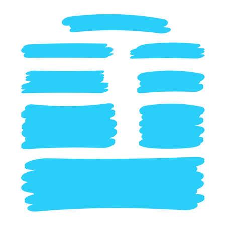 light blue stripes brush paint for scribble marker, brushstroke painting blue pastel soft color, blue watercolor brush art, paintbrush light blue strip paint