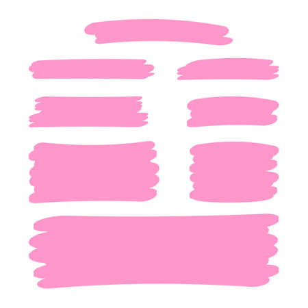 pink stripes brush paint for scribble marker, brushstroke painting pink pastel soft color, pink watercolor brush art, paintbrush pink strip paint
