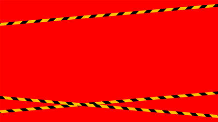 caution tape line, tape yellow black stripe pattern on red for background, warning space with ribbon tape sign for comfort safety zone, safety banner for copy space, ribbon yellow black stripe