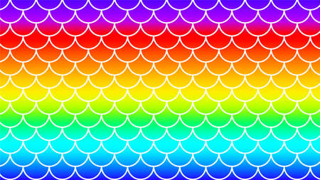 mermaid pattern on rainbow colorful background, fish scale pattern art line on rainbow background, mermaid tail pattern line art for decoration