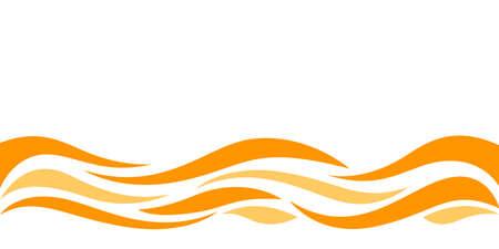 wave form graphic orange color, water waves orange for background, orange juice graphic ripples for banner background, copy space Çizim