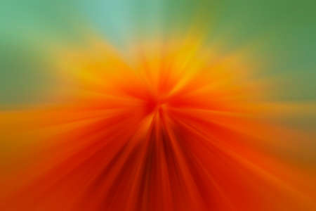 zoom effect orange yellow light color for background, shiny glowing orange green blur and zoom effect, energy and power concept