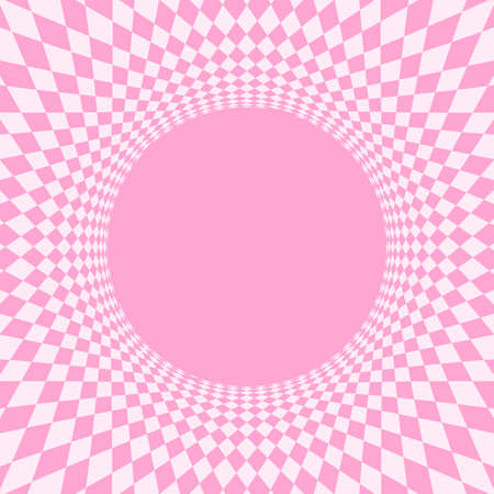 geometric art abstract pink for background, art line light pink spiral optical for hypnotic wallpaper, geometry polygonal pattern with connected graphic line, optical graphic distorted wavy Ilustracja