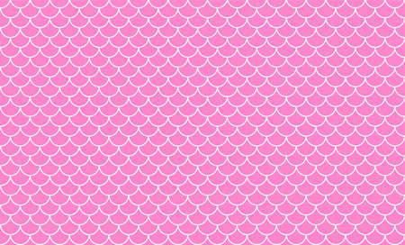 mermaid pattern, fish scale pattern art line on pink background, mermaid tail pattern line art for decoration Çizim