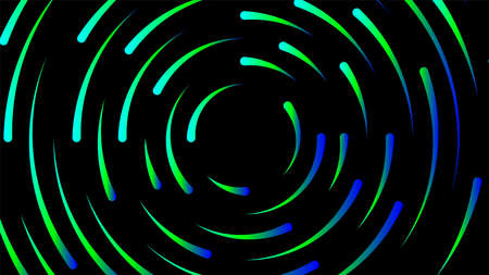 circle line colorful bright for modern background, light neon effect motion with line mixed color, glowing light circle graphic for wallpaper, art line swirl shine color for technology digital concept Ilustracja