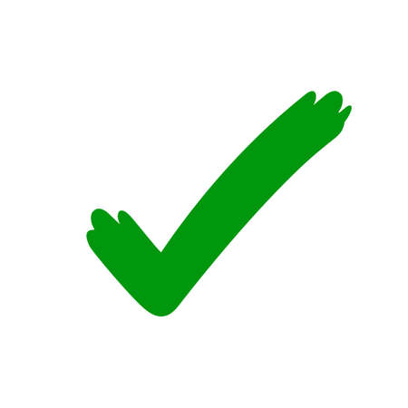 tick check mark icon green, checkmark icon for voting, green approval tick, hand drawn check sign doodle symbol
