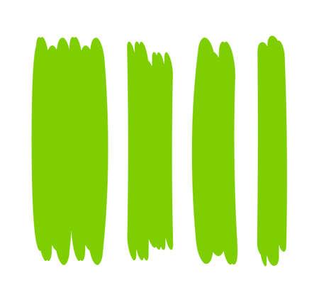 green bright stripes brush paint for scribble marker, brushstroke painting green pastel soft color, green watercolor brush art, paintbrush green strip paint Çizim