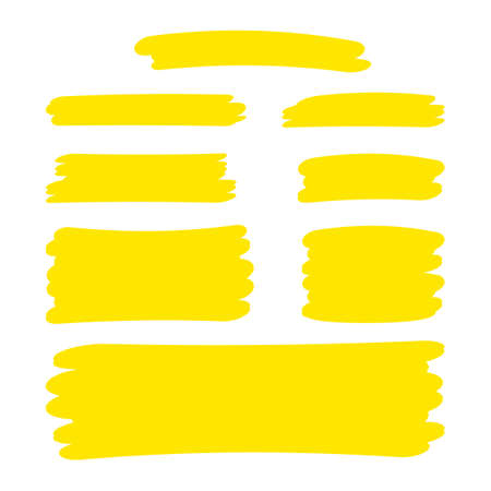 yellow stripes brush paint for scribble marker, brushstroke painting yellow pastel soft color, yellow watercolor brush art, paintbrush yellow strip paint