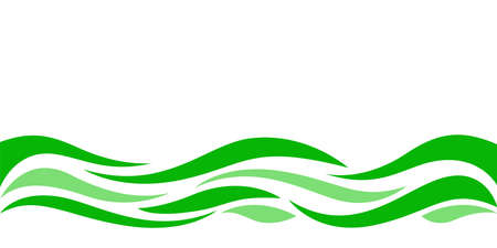 wave form graphic green color, water waves green for background, water ripples green, modern leaf shape or leaves pattern for banner background, copy space