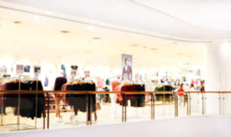 blurred inside shopping mall for background, interior modern market store for background