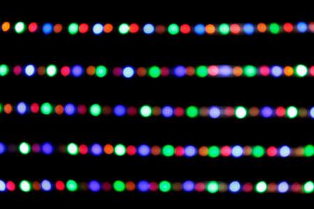 colorful light bulb bokeh blur for background