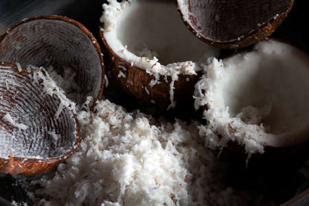 coconut grated for coconut milk cooking Stok Fotoğraf