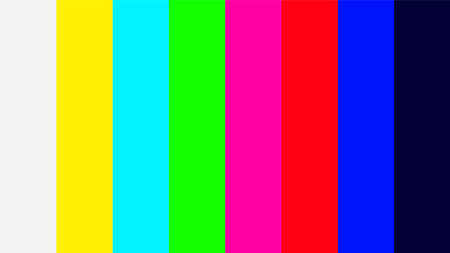 colorful colors signal of TV screen, television signal with graphic color film, video display screen color swatch tv for background
