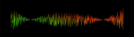 sound signal waveform, audio wave colorful line isolated on white , sound wave for voice recording music, music audio symbol or radio waveform