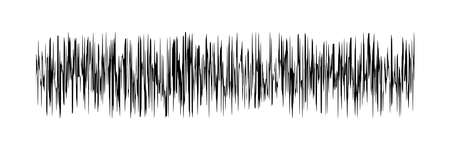 sound signal waveform, audio wave line isolated on white , sound wave for voice recording music, music audio symbol or radio waveform