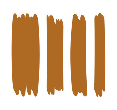 brown stripes brush paint for scribble marker, brushstroke painting brown pastel soft color, brown watercolor brush art, paintbrush brown strip paint 向量圖像