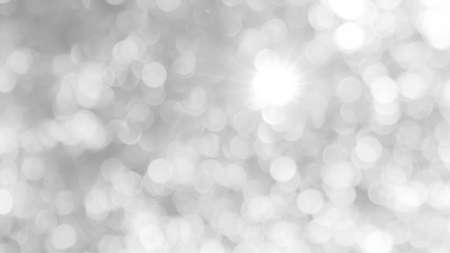 white grey glittering, glowing light for twinkling banner background, bokeh glitter blink in night blurred background, glittering white gray background