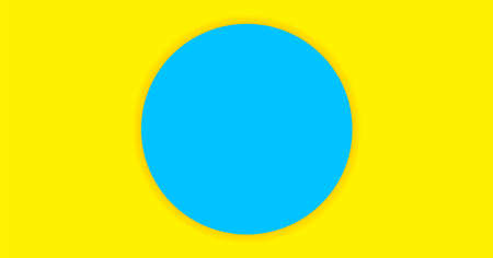 Simple circle light blue on yellow