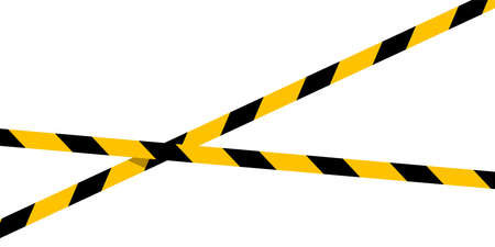 caution tape line stripe and copy space for banner, barricade tape, caution tape yellow black stripe isolated on white background