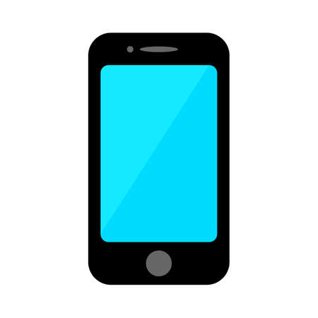 mobile phone icon, smartphone symbol, cell phone