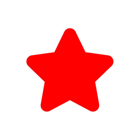 star icon red, star symbol, star shape simple for clip art Ilustração