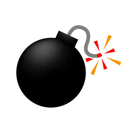 bomb icon, bomb ball symbol, bomb simple shape for clip art