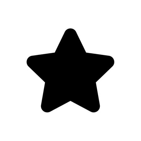star for icon, star shape simple for clip art Ilustração