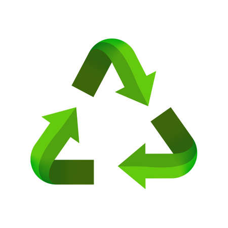 recycle ecological arrow symbol for icon, eco or ecology sign, recycle arrow triangle shape