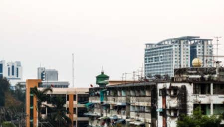 blurred city urban for background, city landscape background blur Stok Fotoğraf